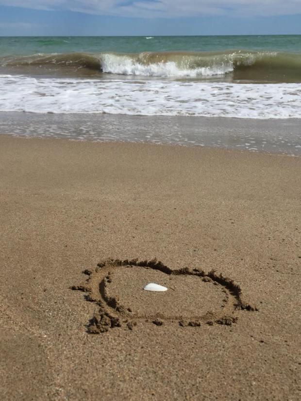 gavamar 14 mai 2018 coeur sur le sable mer