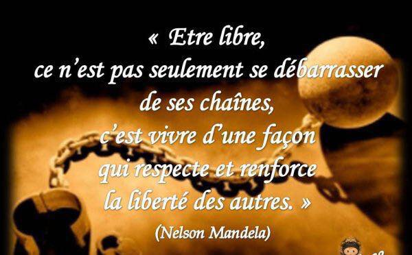 PHOTO CITATION MANDELA ETRE LIBRE
